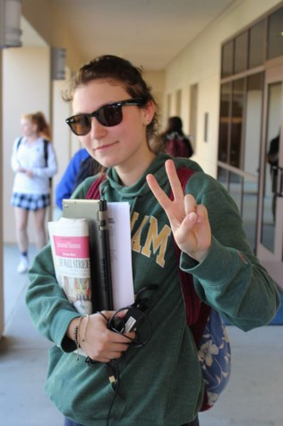 "Senior Rachel Williams takes a bit of southern California ""cool"" wherever she goes."