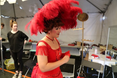 "Senior Andrea Martinez gets transitioned into Dolly for her lead performance in the most recent musical ""Hello Dolly!""."