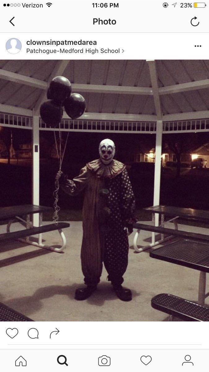 Creepy clowns in their communities.