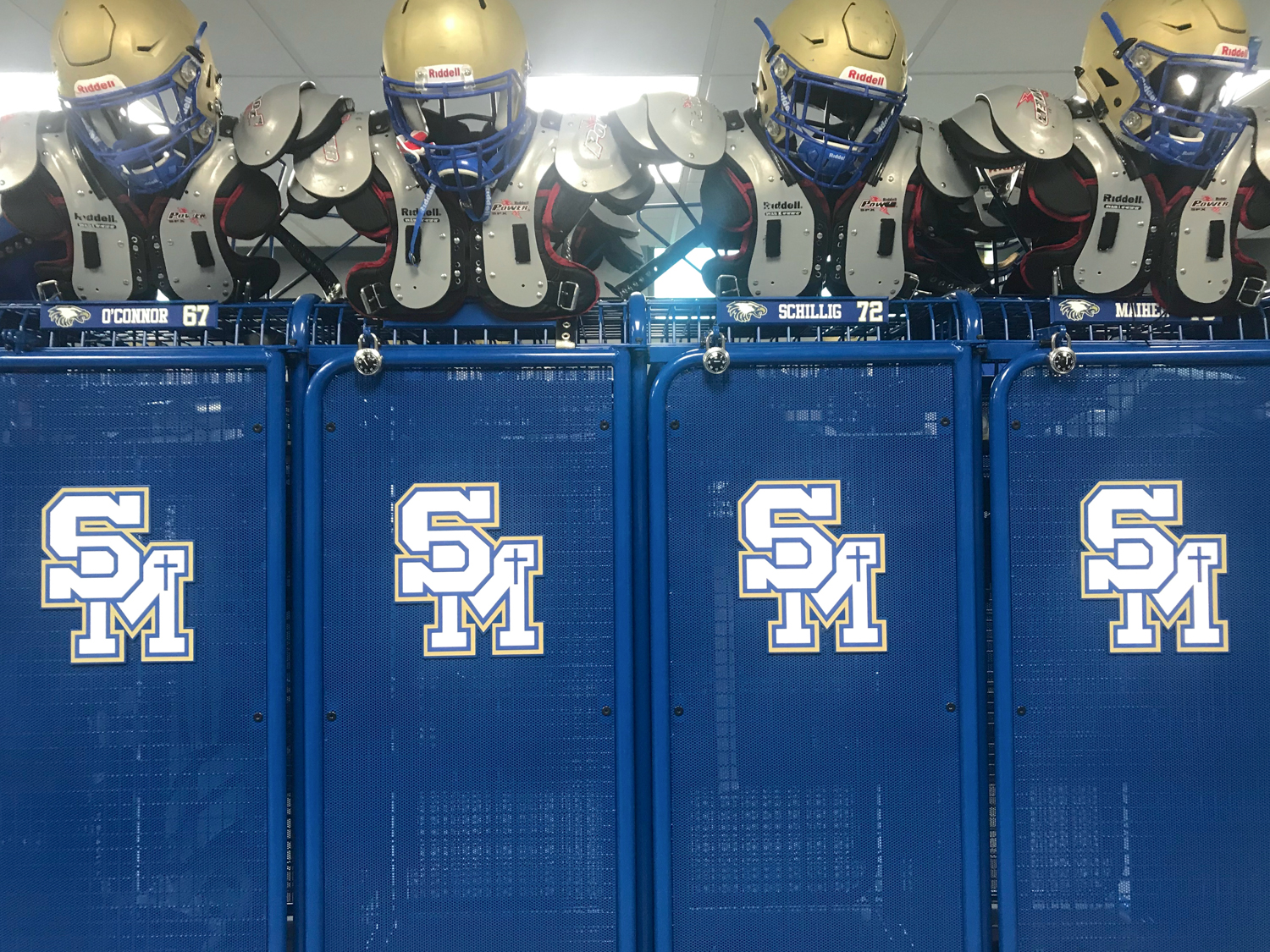 Complete with the name and number of each player, the new locker room is the best way to start the new season.