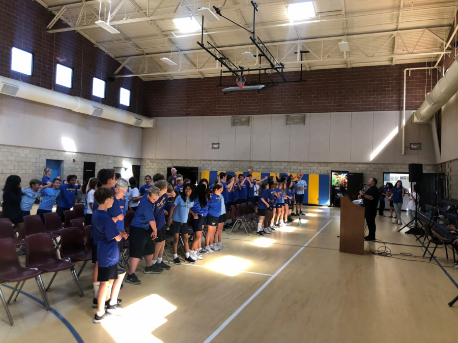 SM Students go to St. Joachim Middle School for Campus Ministry Retreat