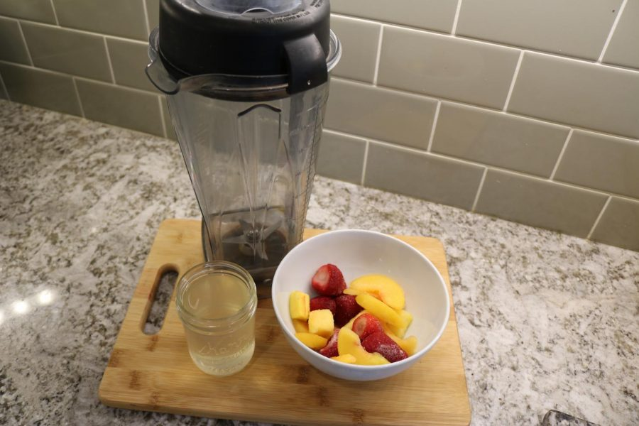 Smoothie: Step 1- Gather the ingredients.