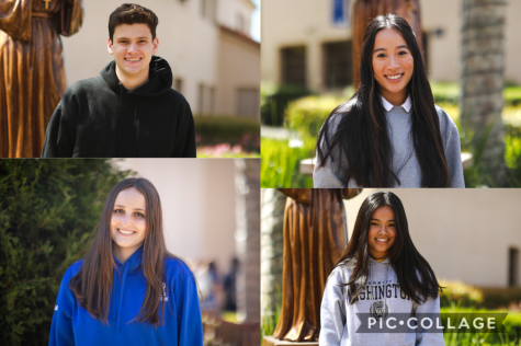 The student body has elected Jack Graham (top left) as ASB Vice President, Sophie Tran (top right) as ASB Treasurer, Alexis McCabe (bottom left) as ASB President, and Samantha Cruz (bottom right) as ASB Secretary.