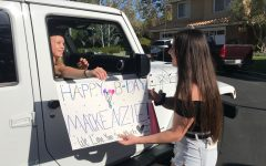 Best suprise- Higgins felt the love on her birthday while still social distancing.