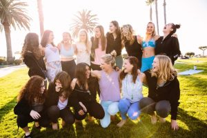Girl gang- During a weekend retreat the Uplift Yoga ambassadors and mentors come together to practice yoga and discover themselves.