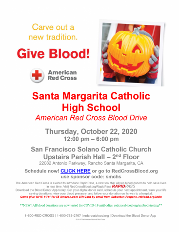 Now more than ever, organizations like the Red Cross are desparate for aid. The blood drive will be held October 22nd at school.