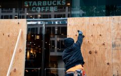 Store fronts are being boarded up in major cities in preparation for the election.